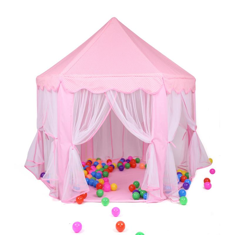 Tents Castle Foldable Girl Playhouse Princess Ball House Children Playing Sleeping Toy Tent Indoor Outdoor Portable Tent Y40