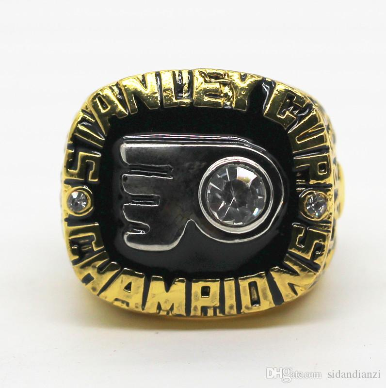 Anel dos homens clássicos 1974 Flyers Stanley Cup Hockey Championship Ring