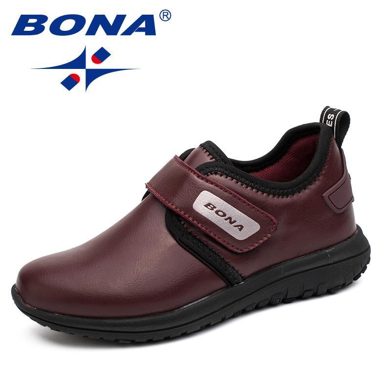 Bona Nuovo arrivo Hot Style ragazzi scarpe casual Hook Loop bambini scarpe da jogging all'aperto scarpe comode veloce spedizione gratuita Y190525