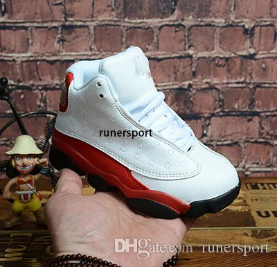 Bebê 13 crianças tênis de basquete Juventude Crianças Athletic 13 Sports Shoes para o menino Meninas Calçados tamanho frete grátis: 28-35