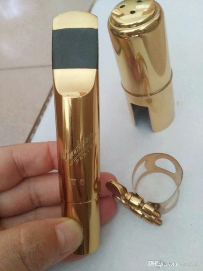 VANDOREN professionale T6 sassofono contralto tenore in metallo bocchino in metallo laccato oro bocchino bocchino per sax taglia 5-9 numeri