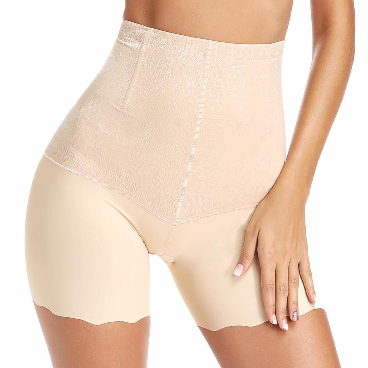 Cintura alta Corpo Shaper Mulheres Underwear cintura instrutor Segurança curto Pants Bundas Lifter Shapewear Tummy Controle Cinturão Sexy Lingerie