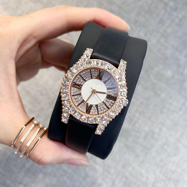 2020 Top Fashion Mulheres vestido de couro Relógios com data Movimento Japão feminina de quartzo relógio couro genuíno relógio de pulso famoso designer senhora