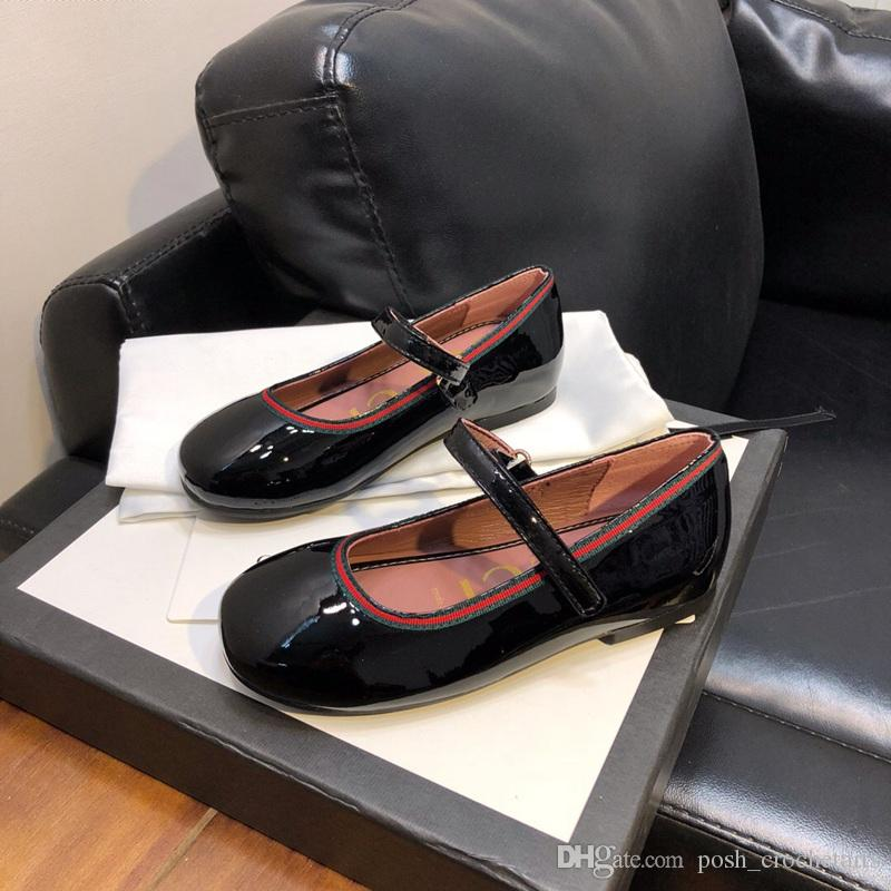 بنات الشقق الباليه أحذية جلدية حقيقية للأطفال شقق مصمم للأحذية طفل بنات عالية الجودة للأطفال