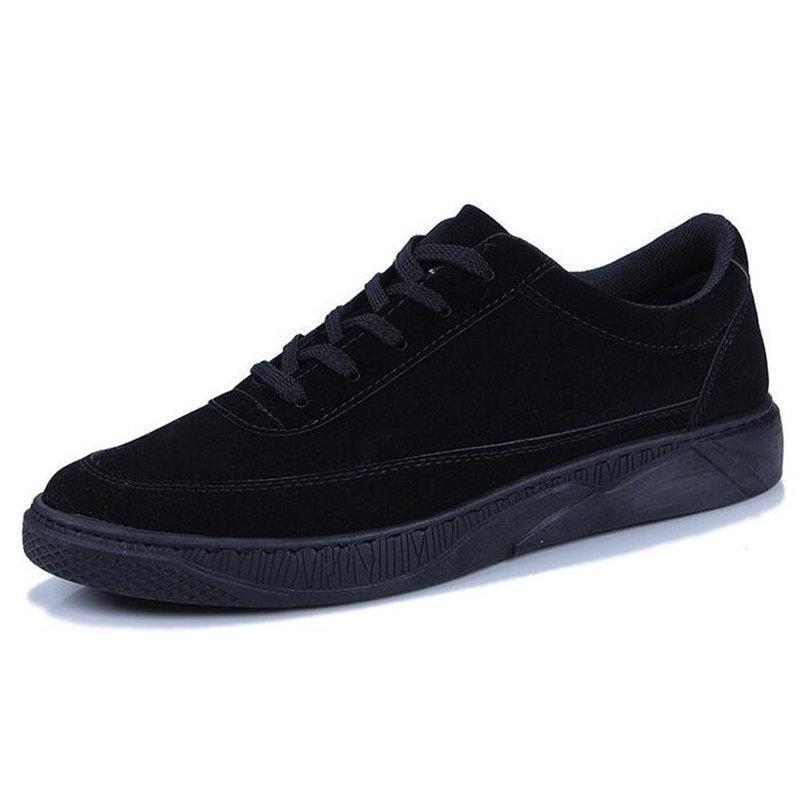 QWEDF 2019 Yeni erkekler rahat ayakkabılar genç erkekler Rahat yumuşak spor ayakkabıları ayakkabı Nefes Moda ilkbahar yaz düz ayakkabılar DD-025