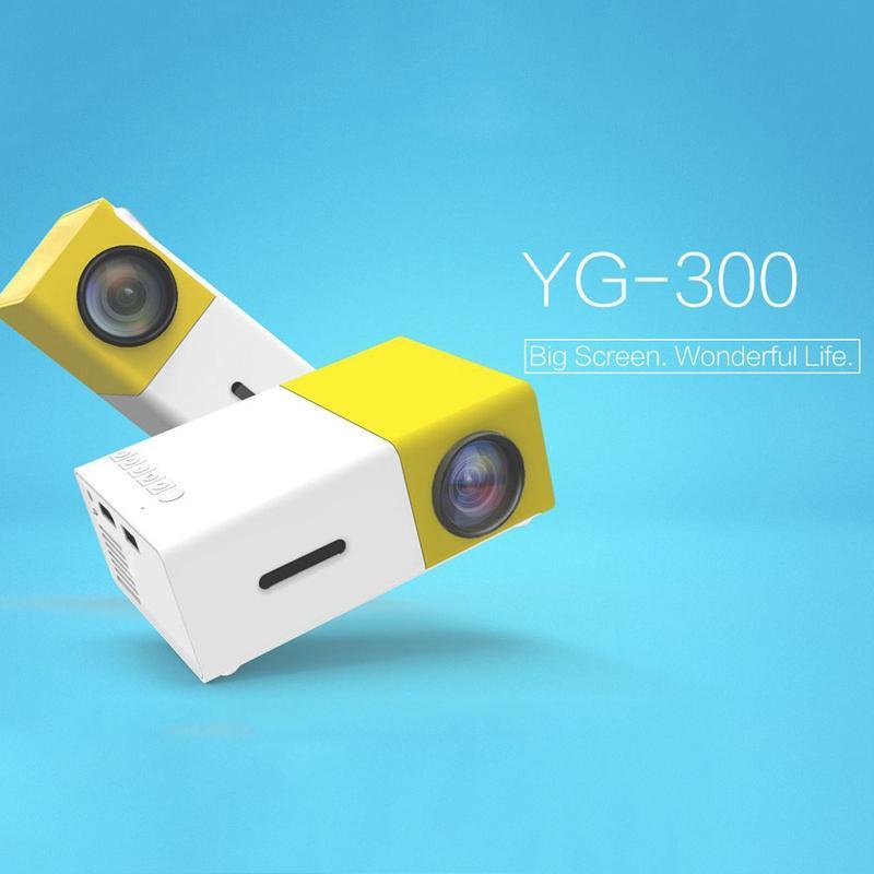 Dropshipping YG300 LED Proiettore portatile 400-600LM 3.5mm Audio 320 x 240 pixel YG-300 HDMI USB Mini proiettore Player Media per la casa