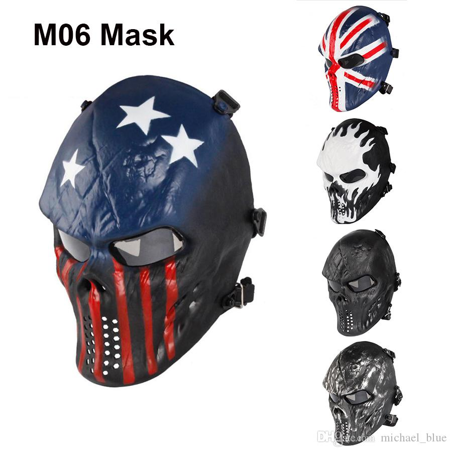GES Crâne Masque airsoft paintball outdoor Full Protection Militaire...