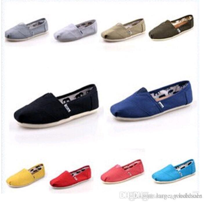 chaussures pour hommes de la marque de toile solide simple de femme, EVA rayures de motif plat amateurs chaussures scintillantes chaussures en toile classique chaussures