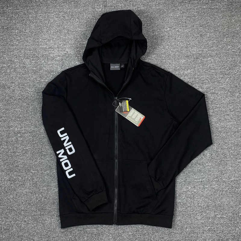 Fermuar Siyah Ceket YF203141 ile Kapşonlu Moda Erkekler Hoodie Ceket Günlük Spor Hoodies Yeni Geliş Erkek Tasarımcı Ceket