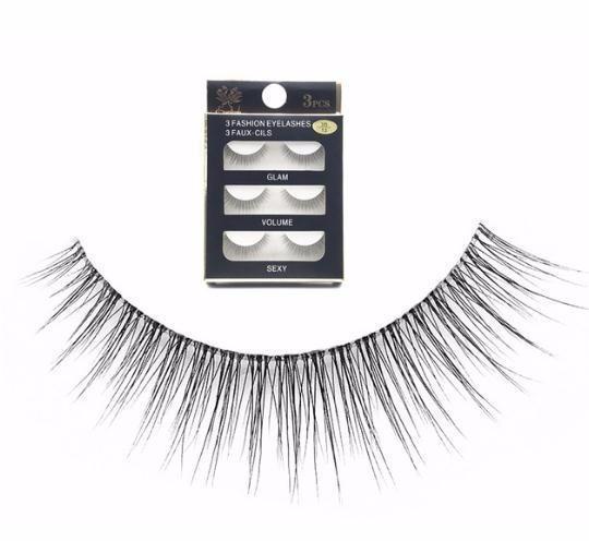 Novos cílios postiços 3 pares Handmade Natural Transparente Falso Cílios Curto 2019 Cílios Maquiagem