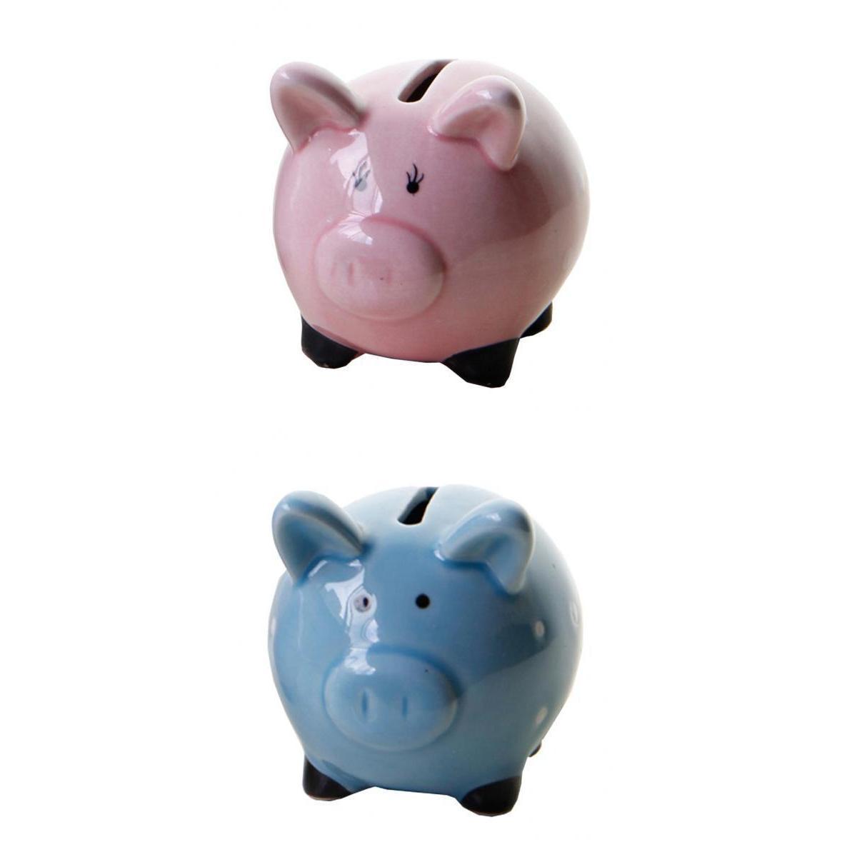 Articoli da regalo 2pcs moneta bancaria della moneta della Banca miglior regalo di compleanno Per i più piccoli delle ragazze dei ragazzi blu / rosa