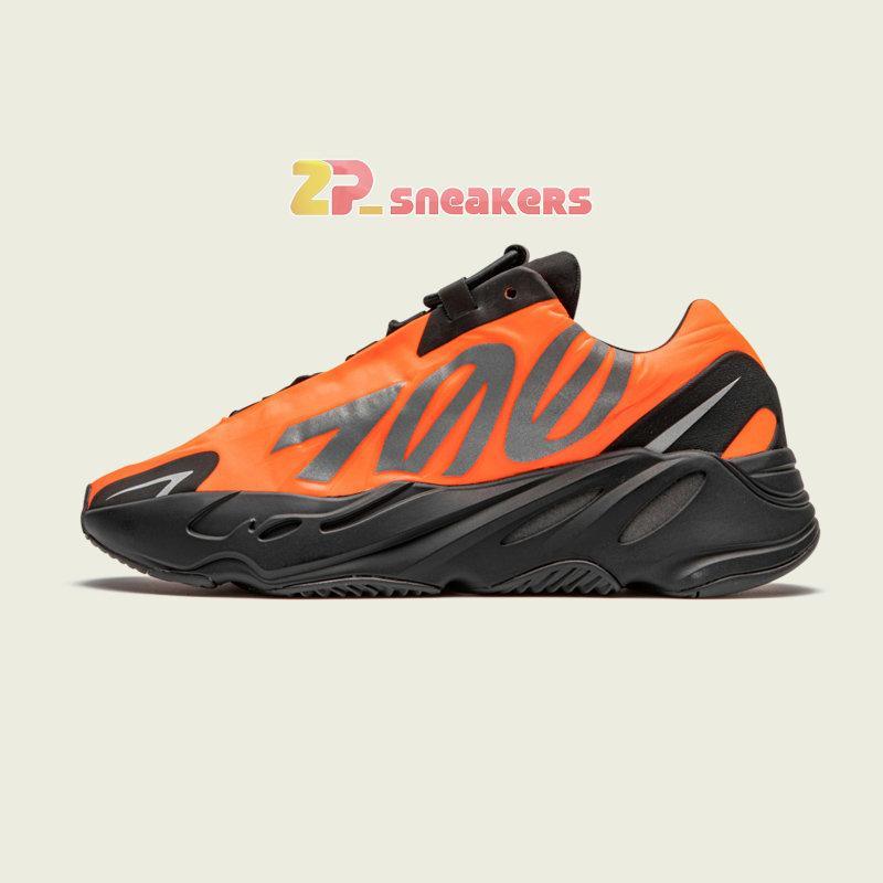 Spor ayakkabılar için Womens Sport Eğitmenler FV3258 FV4440 FY3729 36-46 Running 2020 Yeni Kanye West 700 MNVN Turuncu Siyah Fosfor Tasarımcı ayakkabı