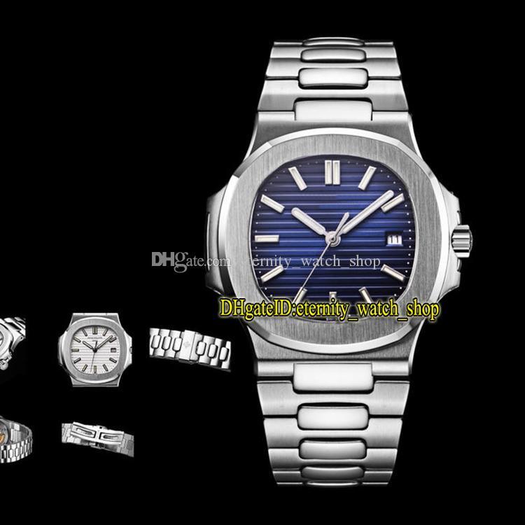5-Color V3-Edition Sport Nautilus 5711 1A 010 Blue Dial Cal.324 SC التلقائي 5711 1A Mens Watch Steel Case V-Shaped Sapphire الساعات الفاخرة