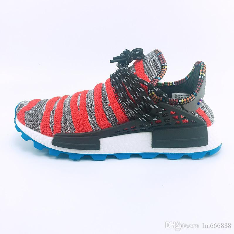 2020 أعلى NMD الإنسان سباق الرجال حذاء تشغيل فاريل وليامز عينة الأحذية الصفراء النساء الأساسية عرضي 36-45