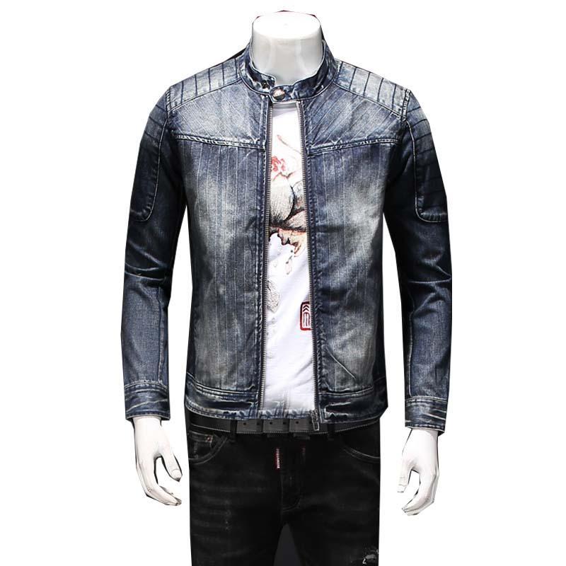 Männerjacken Hohe Qualität Jeansjacke Herren Blue Jean 2021 Herbst / Winterkleidung gewaschener Mantel