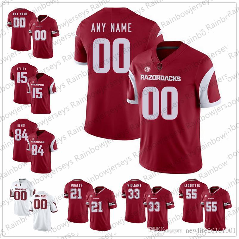 personalized arkansas razorback football jersey