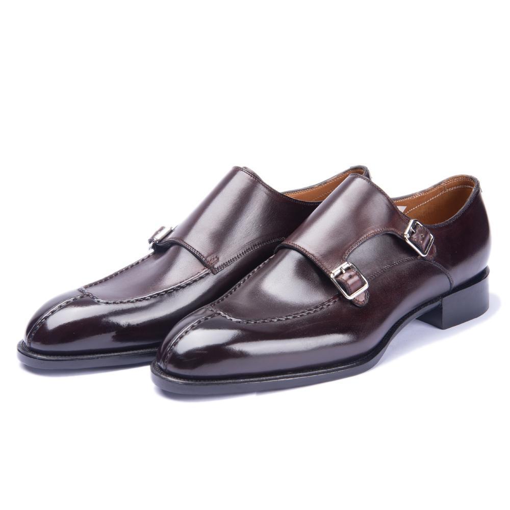 Zapatos de cuero de gran tamaño punta Cordones de negocios incremento de la altura respirable para hombre vestidos hechos en China, 2020