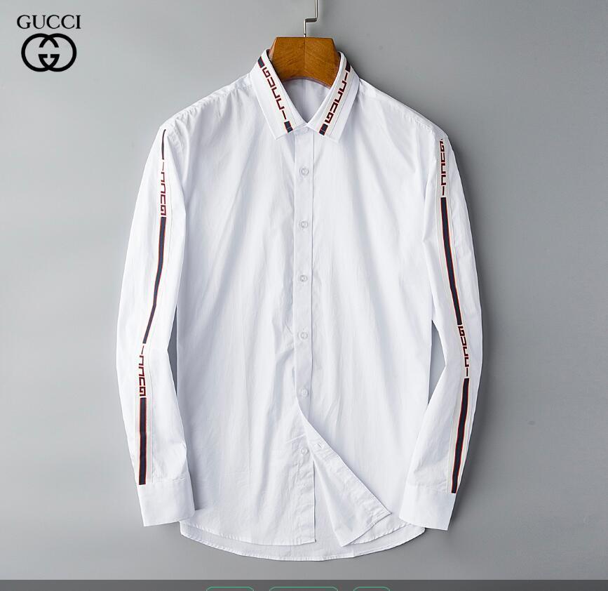 2020 automne et d'hiver chemise casual hommes pur Robe chemise à manches longues hommes mode des vêtements de marque sociale chemise Oxford de LAR 80 chemises pour hommes