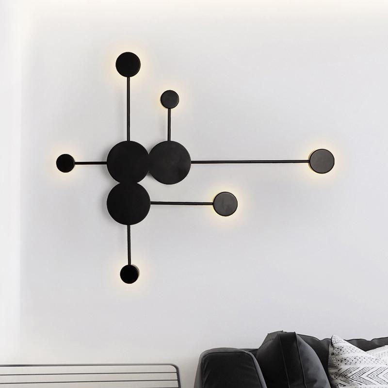 نوم الشمال LED ديكور الجدار مصباح الإبداعية الرئيسية غرفة المعيشة السرير الفن الجدار الشمعدان تركيبات WA200