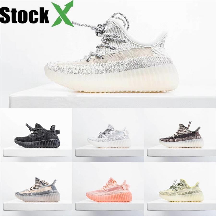 Heiße Verkaufs-Kinderschuhe Zebra Kanye West V2 Sneakers Schwarz Static Reflective Beluga 2.0 Laufschuhe Lehm-Jungen-Mädchen-Kleinkind-Sports Trainer # 116