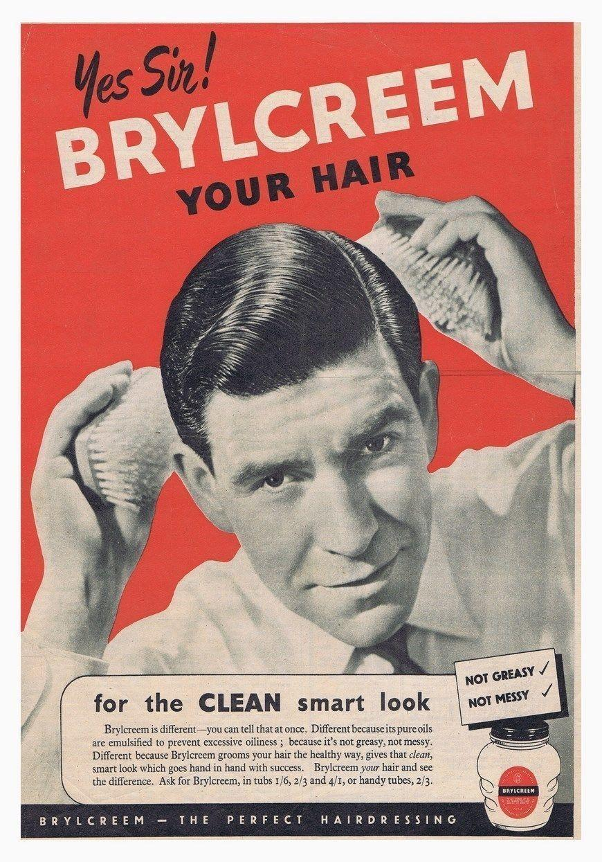 Brylcreem Comb Hair Barber Classic Vintage Art Silk Print Poster 24x36inch(60x90cm) 015