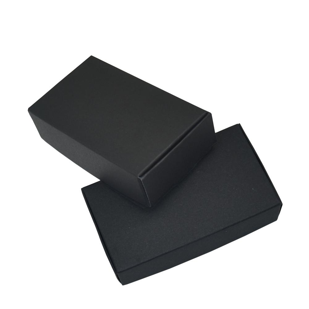 11.8x6.7x3cm Wedding Gift Box Decoration Black Craft Kraft Paper Package Boxes Handmade Candy Soap Paperboard Small Carton 50pcs/lot