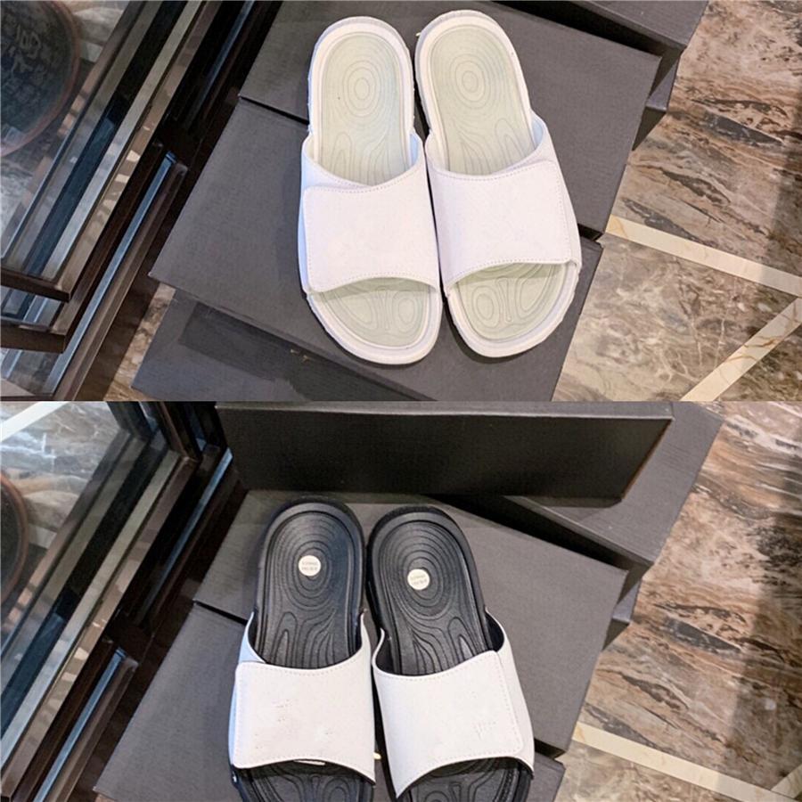 2020 nuevo diseñador de Verano Exclusivo fondo plano simple salvaje de PVC Palabra temperamento plana zapatillas # 156
