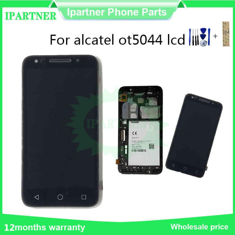 5.0 Inch For Alcatel OT5044 5044Y LCD Touch Screen Digitizer Assembly With Frame For Replacement Part And Tools + 3M Sticker