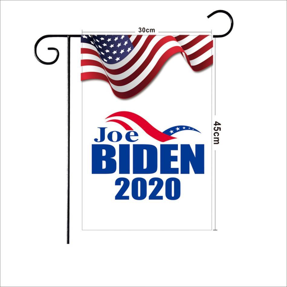 Trump Biden 2020 Bahçe Bayrağı 45 * 30CM Mektupları Baskı Bayraklar ABD Amerikan Yıldız çizgili Bayraklar Başkanı Genel Seçim Banner LJJA4065