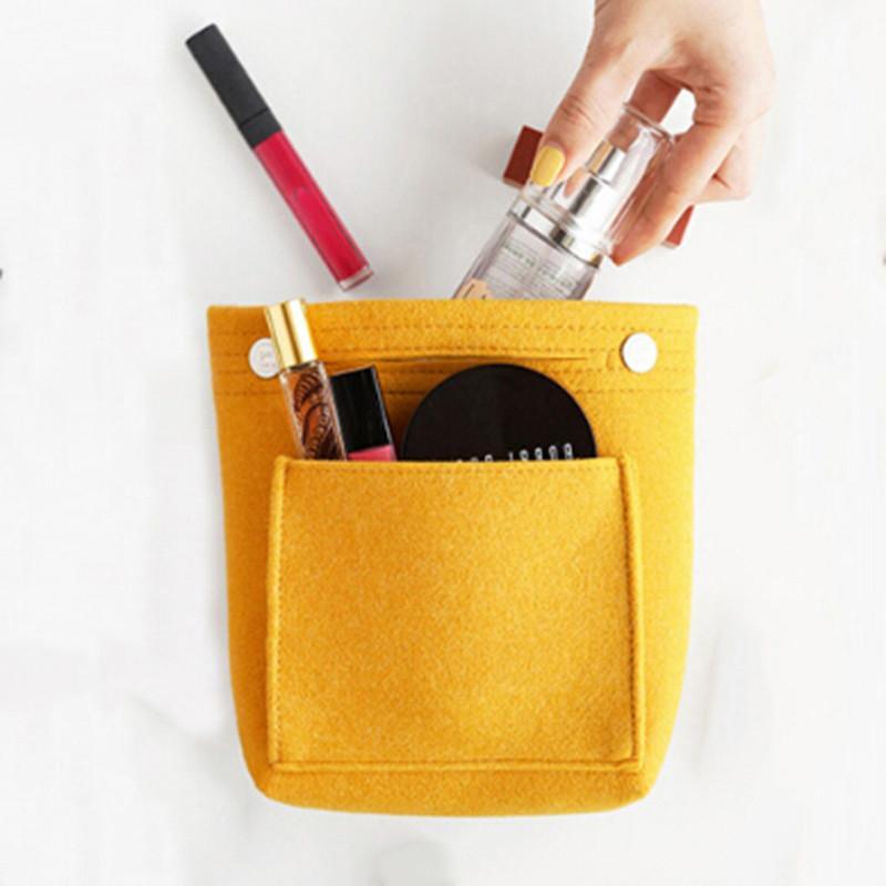 Сплошные цвета Косметика Сумка с карманом Симпатичного Cosmetics сумкой для путешествий дамы мешка женщин Cosmetic Bag