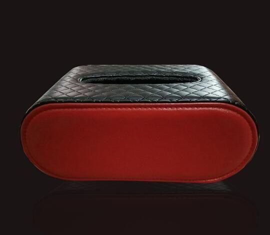 Kit Car Tissue Box Universal PU Car Sun Visor Tipo Hanging Tissue Cubra Em Styling
