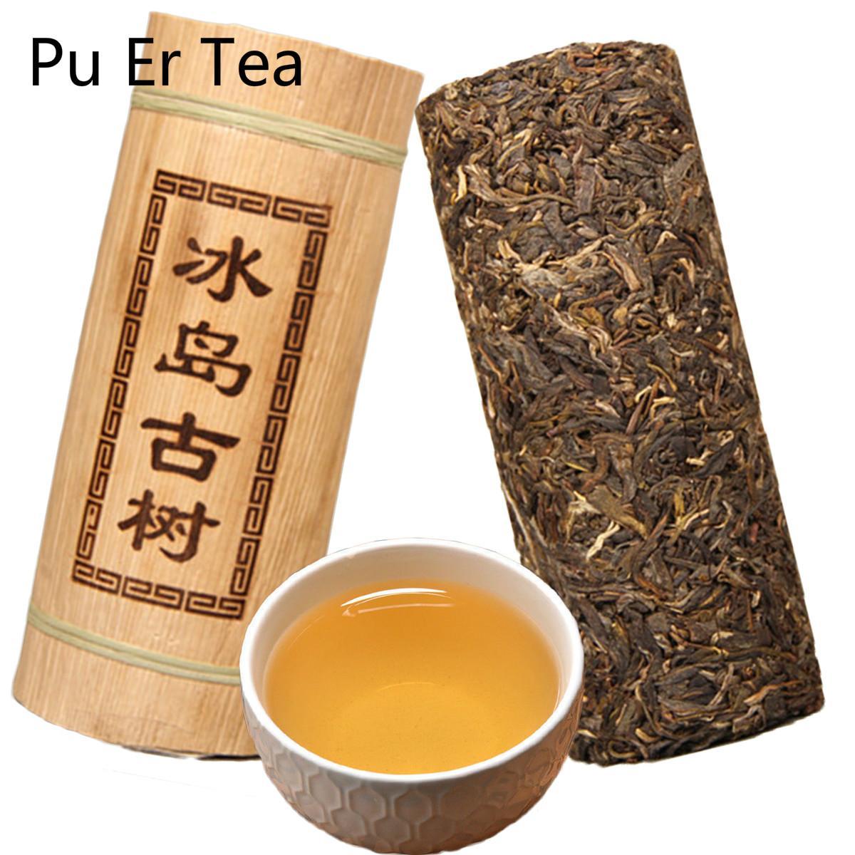 Promotion 500g Yunnan Island alten Baum Puerh Tee Bambus Zylindrische Form Verpackung Roh Tee Grüne Lebensmittel-PU-äh Tee