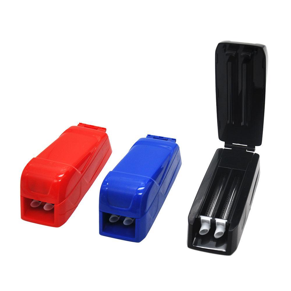 하드 플라스틱 수동 이중 튜브 담배 롤링 인젝터 8mm 롤러 롤링 기계 담배 제조 업체 담배 제조 업체 롤러 흡연 마른 허브