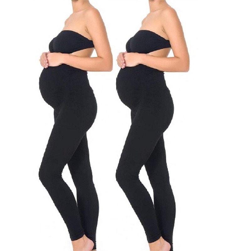 Kadın Casual Annelik Legging Elastik Spor Legging Giyim Hamile Kadınlar Yoga Pantolon Stretch Gebelik Pantolon için