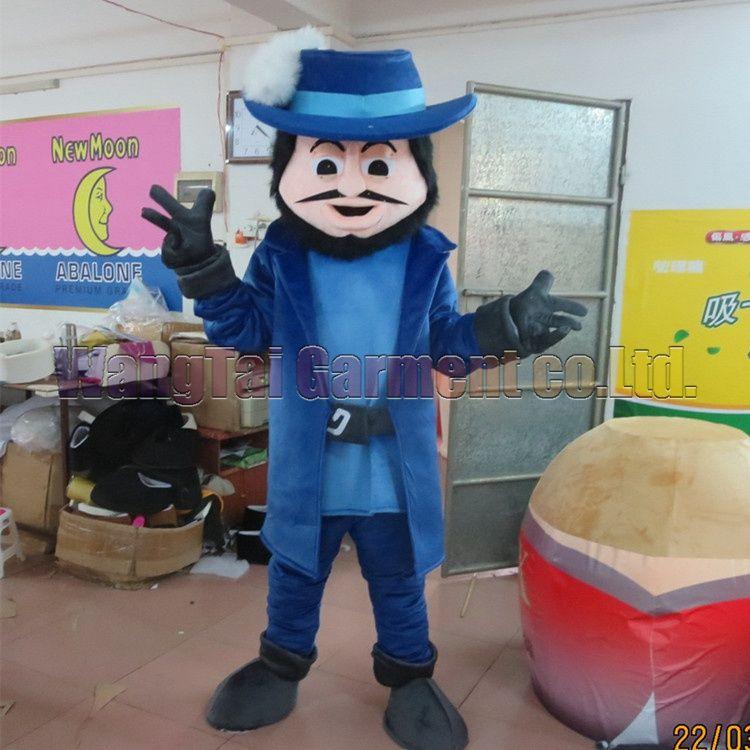Neue Mann-Maskottchen-Kostüm Erstklassig deluxe Zeichentrickfigur Kostüme Mann Maskottchen Klage Abendkleid Partei Karneval-freies Verschiffen