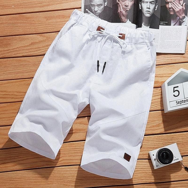 2020 2020 Katı Renk Erkek Şort 5XL Yaz Erkek Plaj Şort Casual Erkek Elastik Bel Moda Marka Boardshorts Artı boyutu M08E #