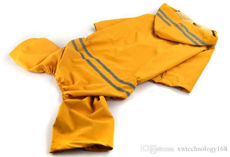 10PCS Rain Poncho for Pet Dog Fashion Large Dog Raincoats Lightweight Poncho Pet Waterproof Jacket 5 Sizes Red Blue Yellow Green Colors