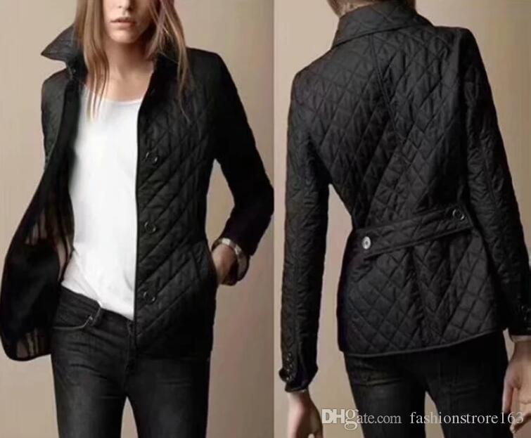 venta caliente! las mujeres del diseño de marca de moda las mujeres del estilo de Inglaterra corta delgada de algodón chaqueta acolchada calidad / arriba chaquetas M-XXXL