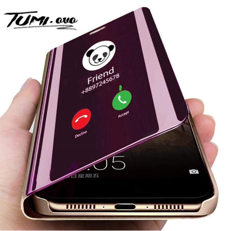 Lusso Specchio Cover per iPhone xs caso di vibrazione intelligente Wake Kickstand Cassa del telefono mobile Staffa per iPhone 11Pro max 6 7 8 Caso