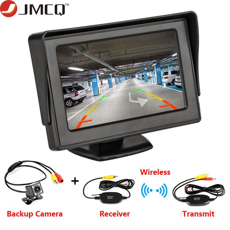 "Araba Monitör 4.3"" Dikiz Ters Kamera TFT LCD Ekran HD Dijital Renk PAL / NTSC Ters Kamera Park Sistemi İçin Ekran"