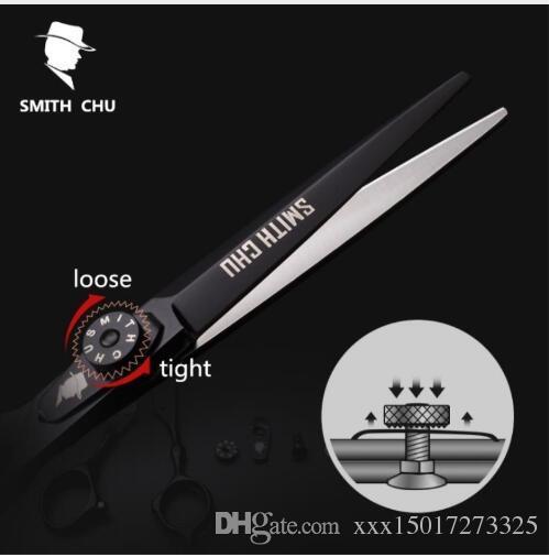 "Smith chu 6""sale black japan hair scissors teflon shears cheap hairdressing scissors barber thinning scissor hairdresser haircut"