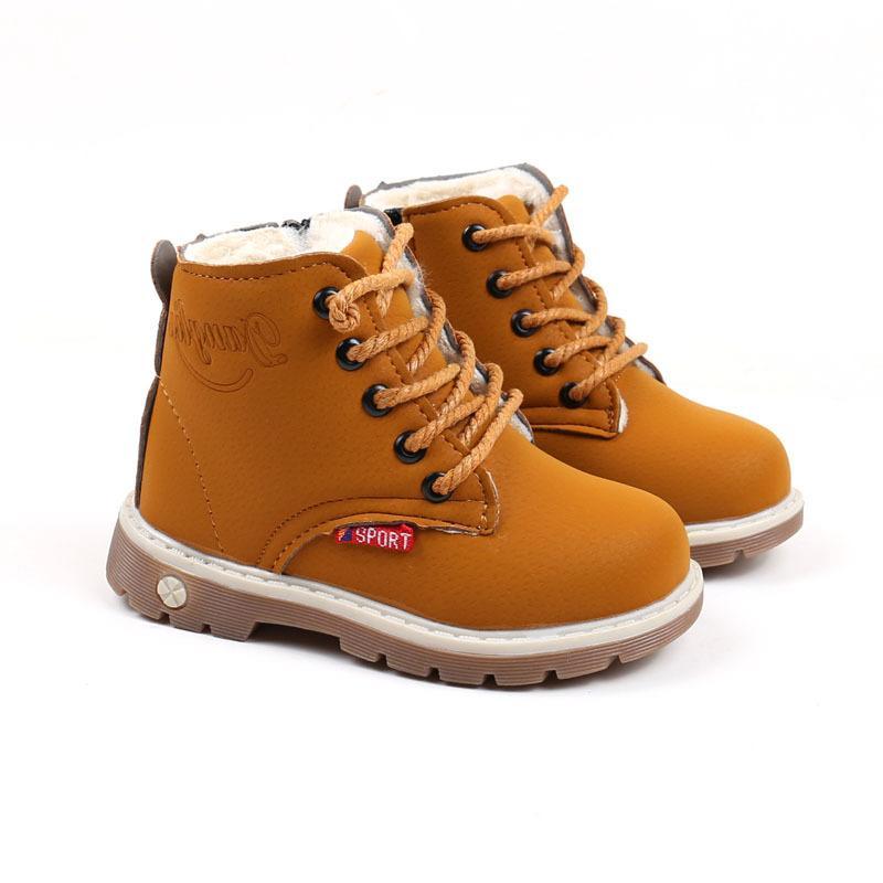 Дети зимние ботинки мальчики девочки мода снежные пинетки дети сплошные короткие ботинки теплые противоскользящие спортивные хлопковые ботинки