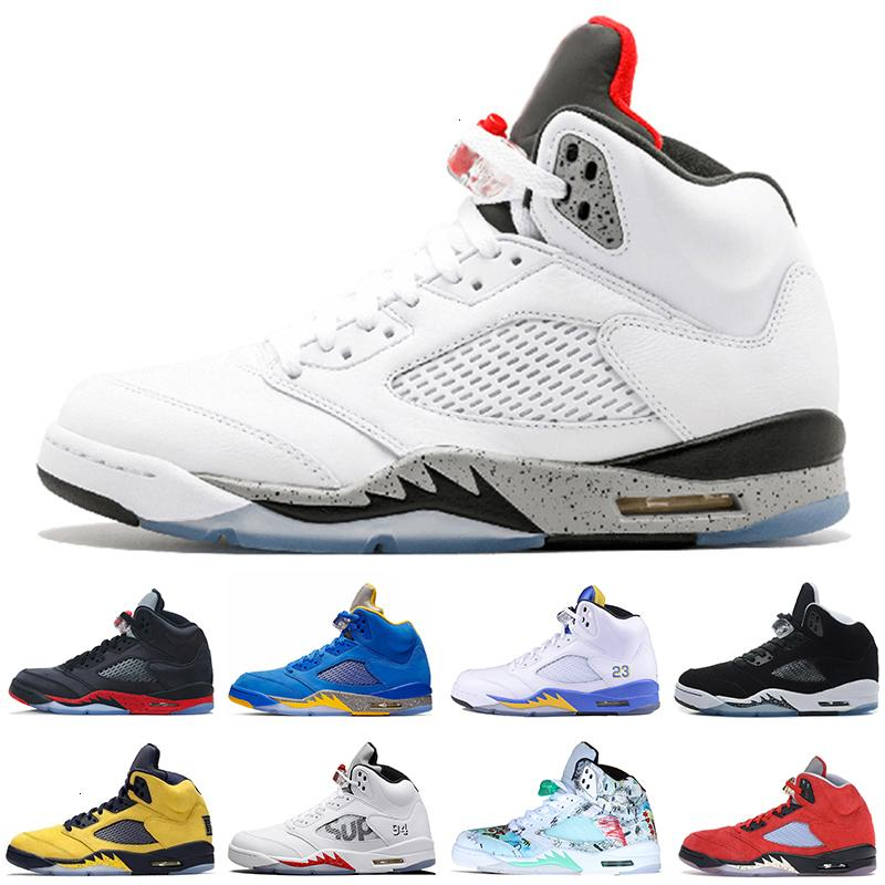 Michigan Fab 5 Inspire Saten Bred taze 5 kanatları 5 S PSG siyah erkekler basketbol ayakkabıları PARİS Laney OG beyaz üzüm erkek spor Sneakers