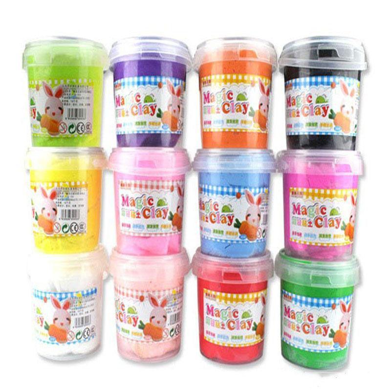 خفيفة للغاية بوليمر ماجيك كلاي 12 ألوان صديقة للبيئة لعب العجين البلاستيسين الإبداعية للأطفال اللعب كلاي ألعاب تعليمية للأطفال