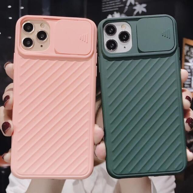 100pcs Hot Phone Case With Push-Pull Camera Protection For Iphone 6s 7 8 Xr Xs 11 Pro Max Plus Protective Case