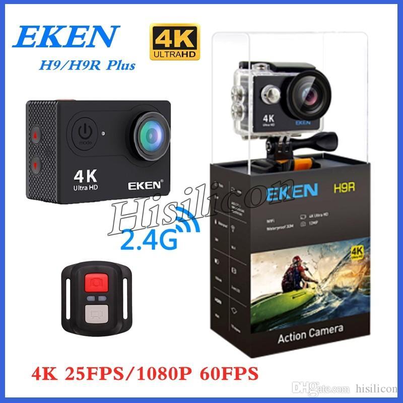 كاميرا محفظة 5pcs EKEN H9R H9 زائد الرياضة بعيد جدا HD 4K واي فاي 1080P 60FPS 2.0 LCD 170D الموالية الرياضة للماء Actiom كاميرات