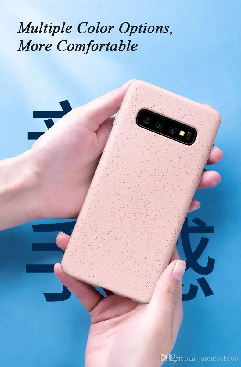 Samsung S10 Artı Lite Vaka Elastik TPU Kayma Önleyici Kir Parmak İzi Destek Kablosuz iPhone için Telefon Kılıfları Kapak Şarj için