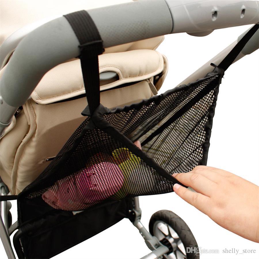 Прогулочная коляска Организатор Детская коляска Net Bag Карманный Mesh бутылки Подгузник Infant сумка для хранения держатель Детские коляски Аксессуары