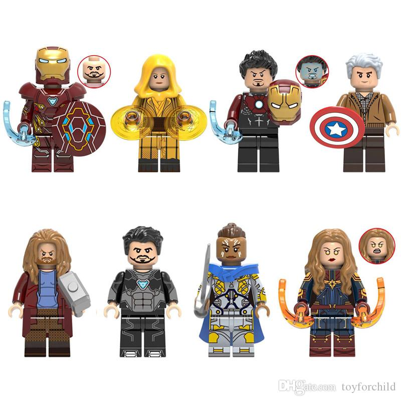 Avengers Super Hero Iron Man Tony Stark Ancient One Captain America Thor Tony Stark Valkyrie Captain Marvel Mini Toy Figure Building Block