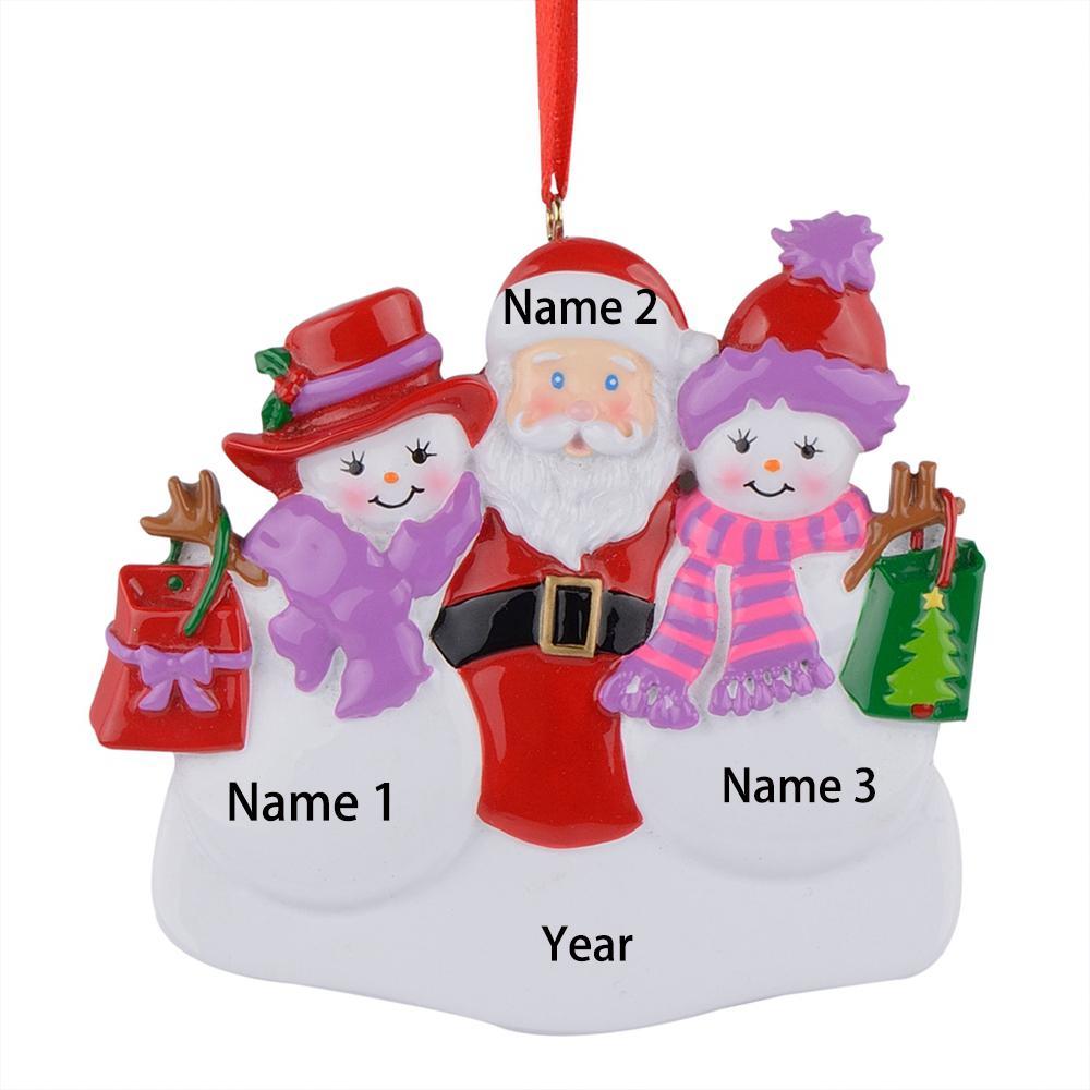 Ornement suspendu de résine de irlandais de Noël avec fer à cheval personnalisé brillant comme souvenir d'artisanat pour cadeau ou de décoration de la maison
